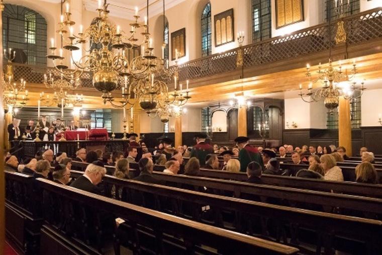 Inside Bevis Marks Synagogue