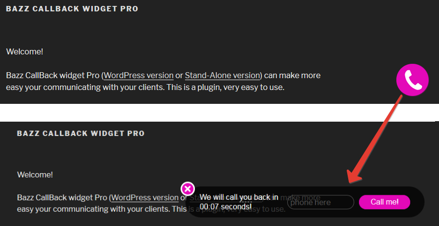 Bazz CallBack widget Pro (stand-alone) Download