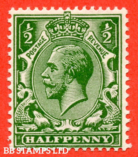 SG. 353 variety N14 (5). ½d Very Deep Green. A fine mounted mint example complete with PTS certificate.