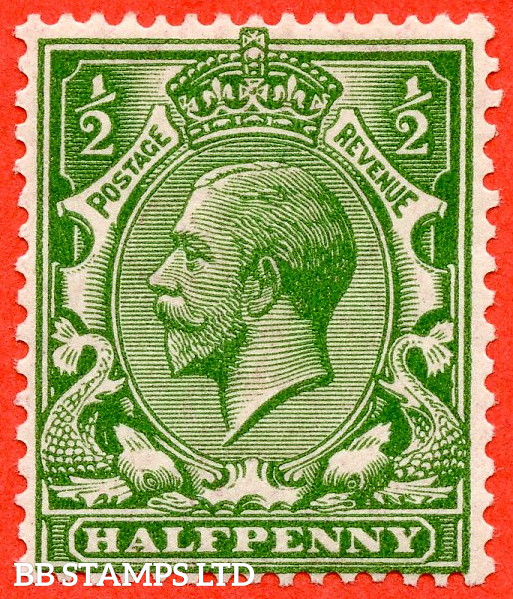 SG. 354 variety N14 (UNLISTED). ½d Deep Bright Yellow Green. A fine UNMOUNTED MINT example of this known but unlisted by SG shade variety complete with HENDON certificate.