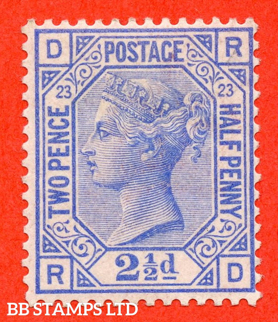 """SG. 157. J25. """" RD """". 2½d blue. Plate 23. A super UNMOUNTED MIN example."""