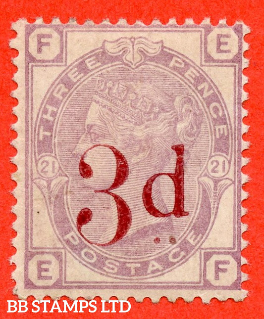 """SG. 159. K8A. """" EF """". 3d on 3d lilac. A fine UNMOUNTED MINT example."""