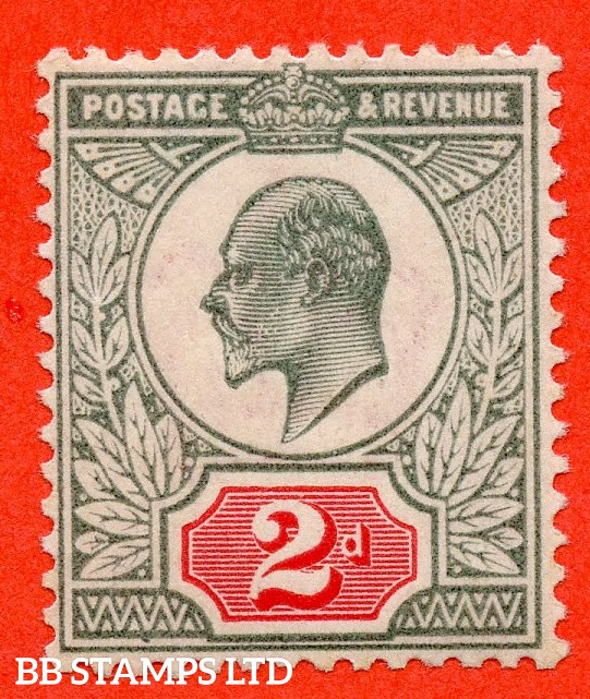 SG. 226 variety M11 (5). 2d Grey Green & Scarlet Vermilion. A super UNMOUNTED MINT example of this newly listed Edwardian shade variety. Complete with HENDON certificate.