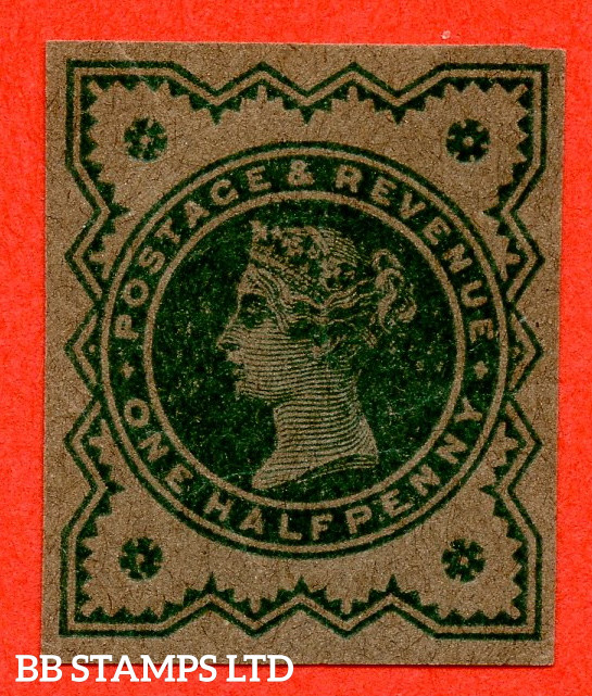 """SG. 213 variety ½d Blue - Green on buff paper. """" PLATE PROOF - IMPERF """". A very fine example."""