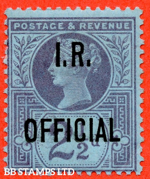 SG. O14. L14. 2½d Purple / Blue. I.R Official. A fine mounted mint example.