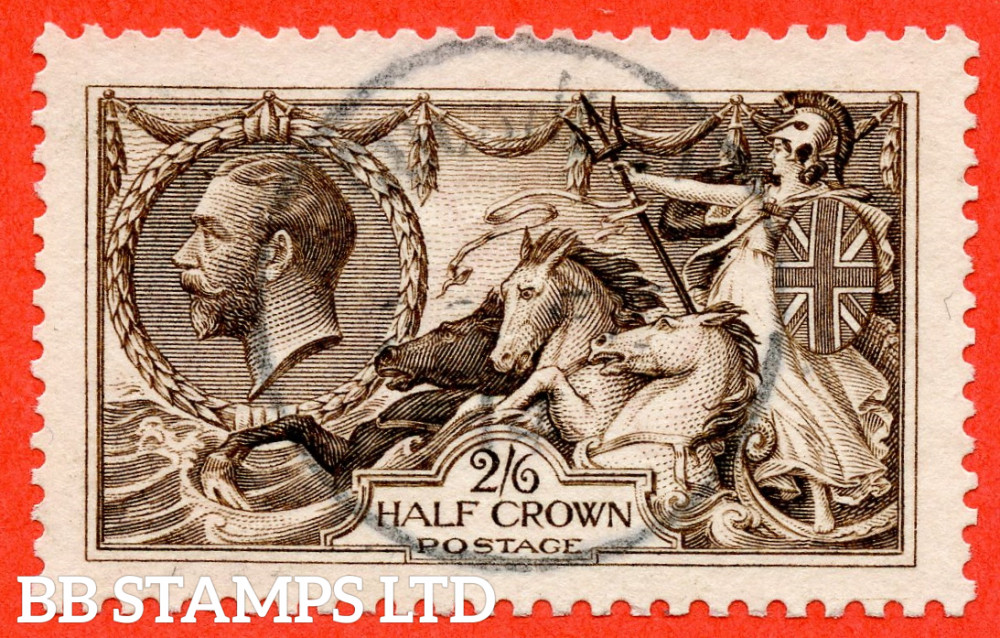 """SG. 400. N63 (3). 2/6 Sepia - Brown. A very fine CDS """" CDS used example."""