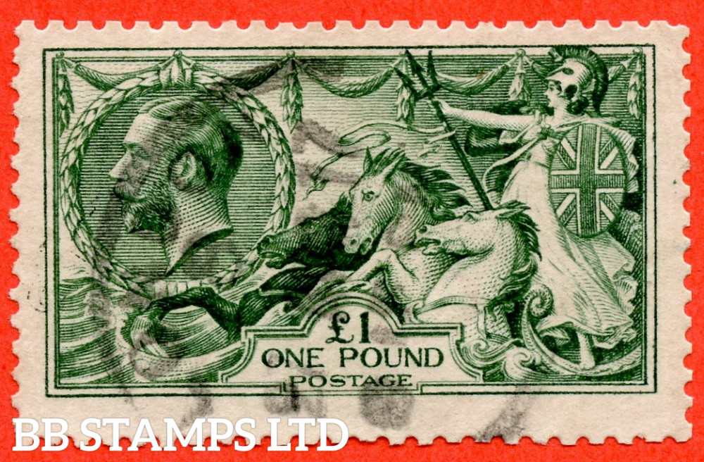 SG. 404. N72 (3). £1.00 Dull Blue Green. A good used example.
