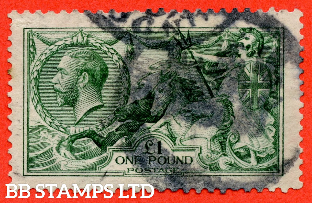 SG. 403. N72 (1). £1.00 Green. An average used example.