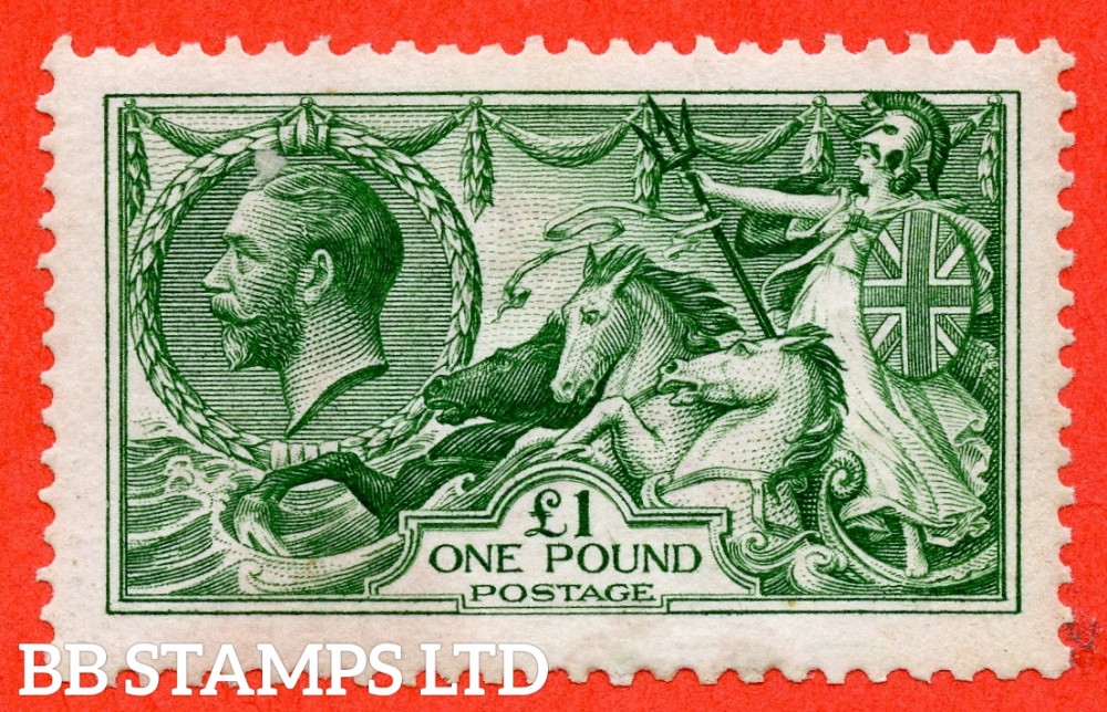 SG. 403. N72 (1). £1.00 Green. An average mint example.