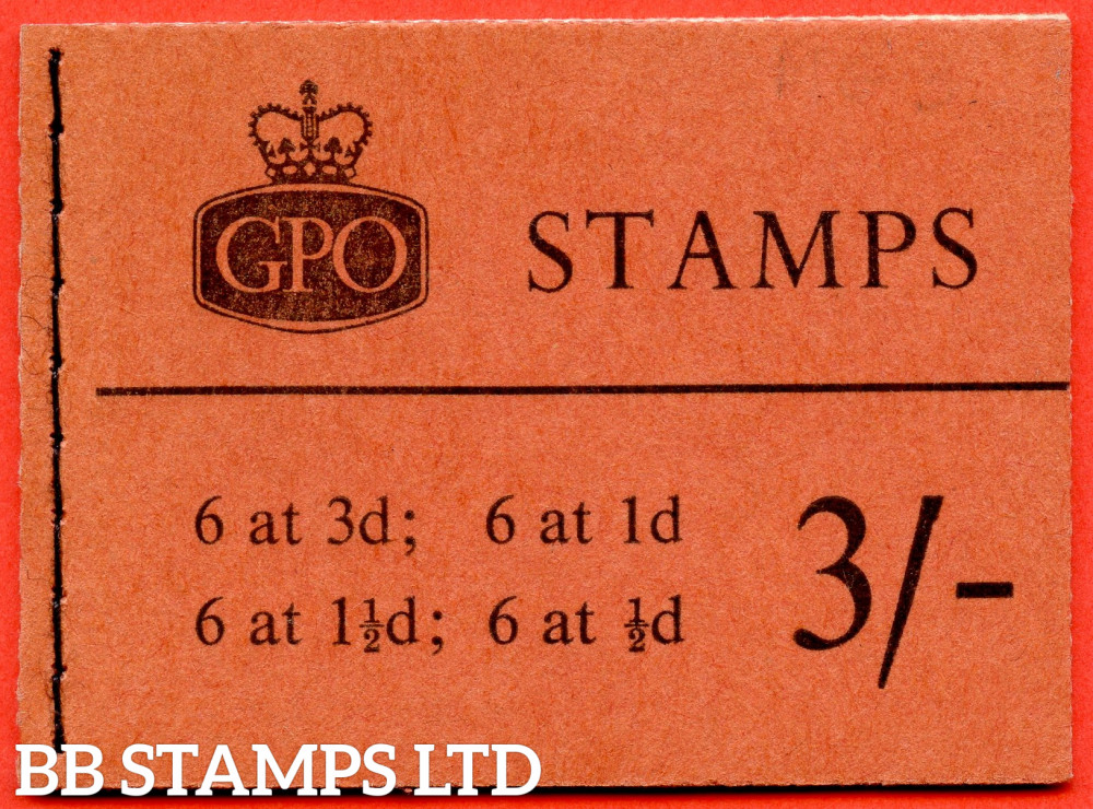 SG. M15g. 3/- Graphite 1959 October. Multiple Crown. Brick-red Cover Type C