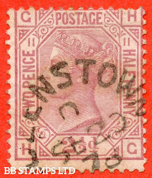 """SG. 141. J12. """" HG """". 2½d Rosy Mauve. Plate 11. A very fine """" 20th September 1878 QUEENSTOWN """" CDS used example."""