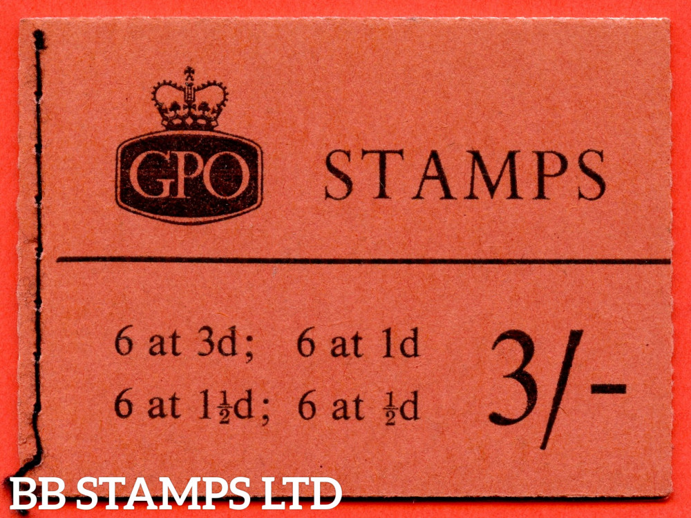 SG. M26. 3/- 1960 September. Multiple Crown. Brick-red Cover Type C