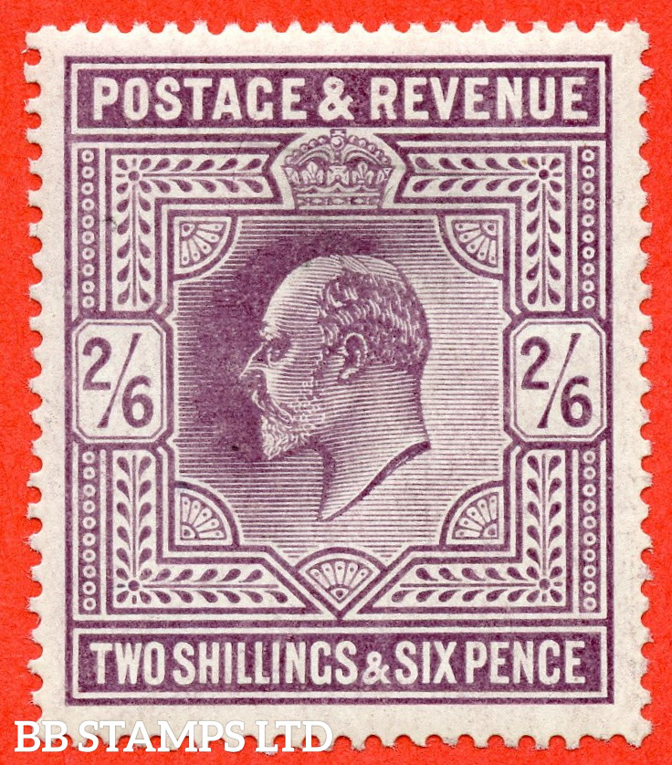 SG. 262 variety M49 ( 3 ). 2/6 Slate Purple. An average mint example.