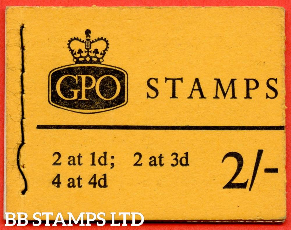 SG. N26pR. 2/- 8mm Violet Phosphor 1966 October. Multiple Crown. 1d at Right on 1d/3d Pane. Orange-Yellow Cover Type C