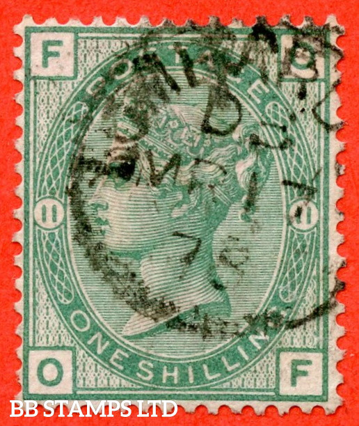 """SG. 150. J111. """" OF """". 1/- Green. Plate 11. A fine """" 17th March 1878 """" CDS used example."""