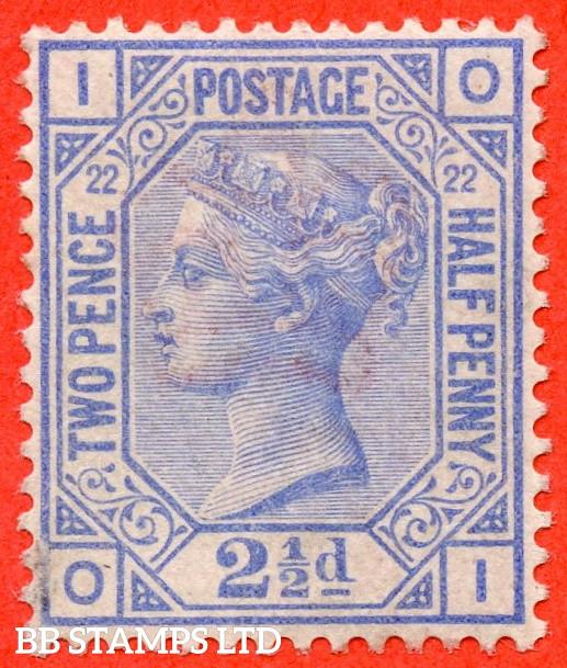 "SG. 157. J24. "" OI "". 2½d Blue. Plate 22. An average mint example."