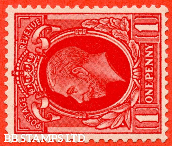 SG. 440 cwi. N50 (1) c. 1d Scarlet. A fine mounted mint example with the scarce watermark SIDEWAYS & INVERTED INVERTED variety.