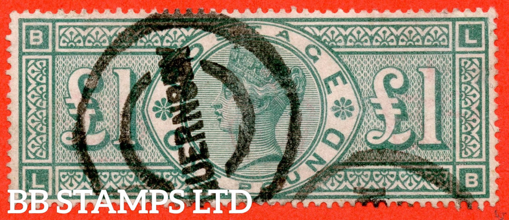 """SG. 212. K17. £1.00 Green """" LB """". A good """" GUERNSEY """" CDS used example."""