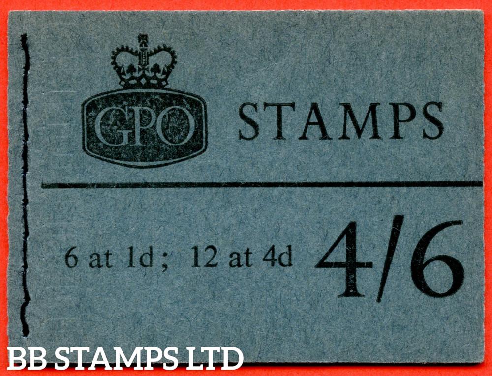 SG. L64p. 4/6 Violet 8mm Phosphor 1967 January. Multiple Crown. Slate-Blue Cover Type D