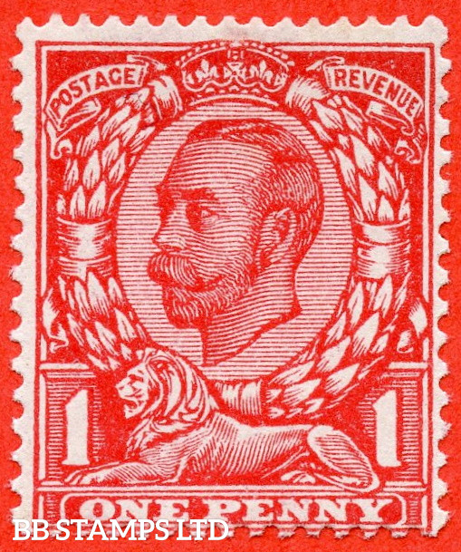 SG. 350a N13 (1) f. 1d Scarlet. NO CROSS ON CROWN. A very fine UNMOUNTED MINT example of this much scarcer Downey variety.