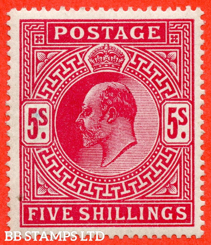 SG. 318. M52 (2). 5/- Carmine. A fine mounted mint example.