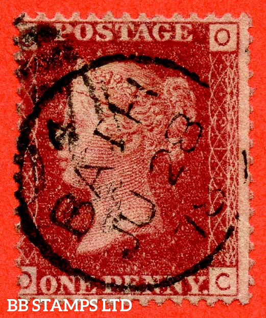 """SG. 43/44. """" OC """" 1d Red. Plate 211. A very fine """" 28th June 1878 BATH """" CDS used example."""