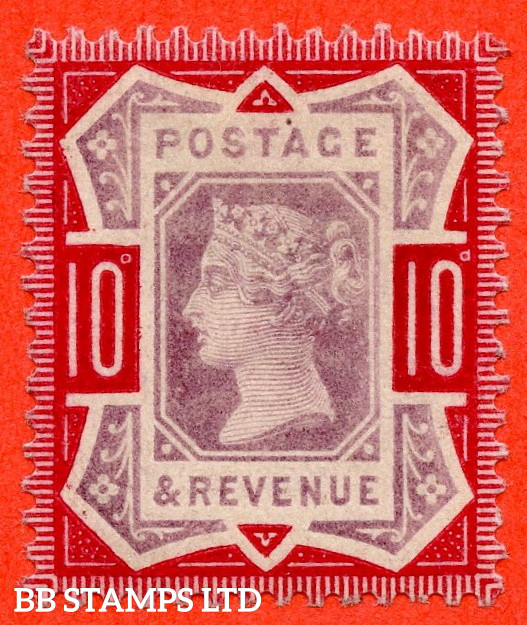 SG. 210a. K39 (2). 10d Dull Purple & Deep Bright Carmine. A very fine UNMOUNTED MINT example of this difficult Jubilee shade variety. Complete with RPS certificate.