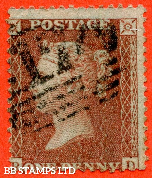 """SG. C7. """" RD """". 1d Red - brown plate 26. A good used example of this SCARCE stamp."""