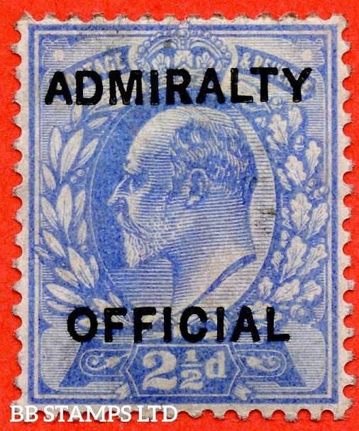 "SG. 0105. M034. 2½d ultramarine. "" Admiralty Official "" Type I. A fine mounted mint example of this difficult stamp."