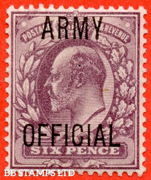 """SG. 050. MO21. 6d Pale dull purple. """" Army Official """". A very fine UNMOUNTED MINT example."""