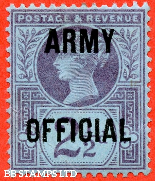 SG. 044. L39. 2½d purple on blue paper. Army Official. A very fine UNMOUNTED MINT example.