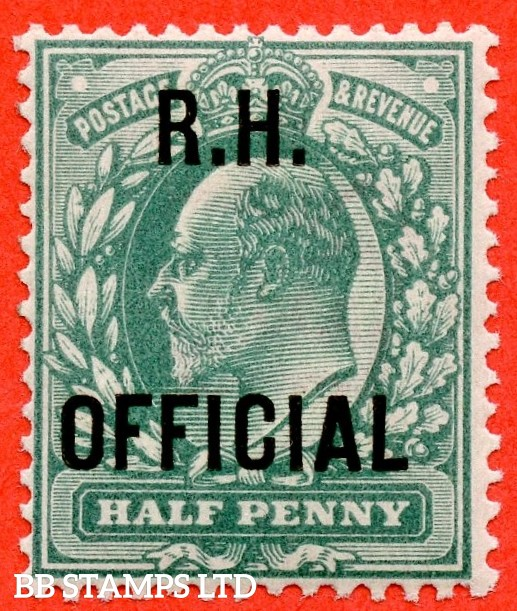 "SG. 091. MO28. ½d blue green. "" R.H OFFICIAL "". A super UNMOUNTED MINT example of this scarce Official."