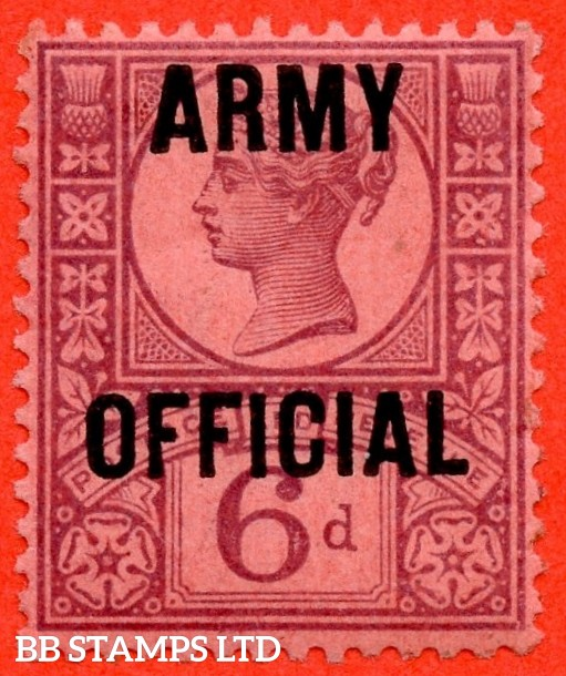 "SG. 045. L40. 6d purple / rose - red. "" ARMY OFFICIAL "". A super UNMOUNTED MINT example."