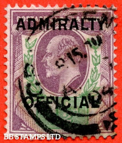 SG. 0109. 1½d Dull purple & green. Admiralty Official Type II. A Very fine used example of this scarce stamp.