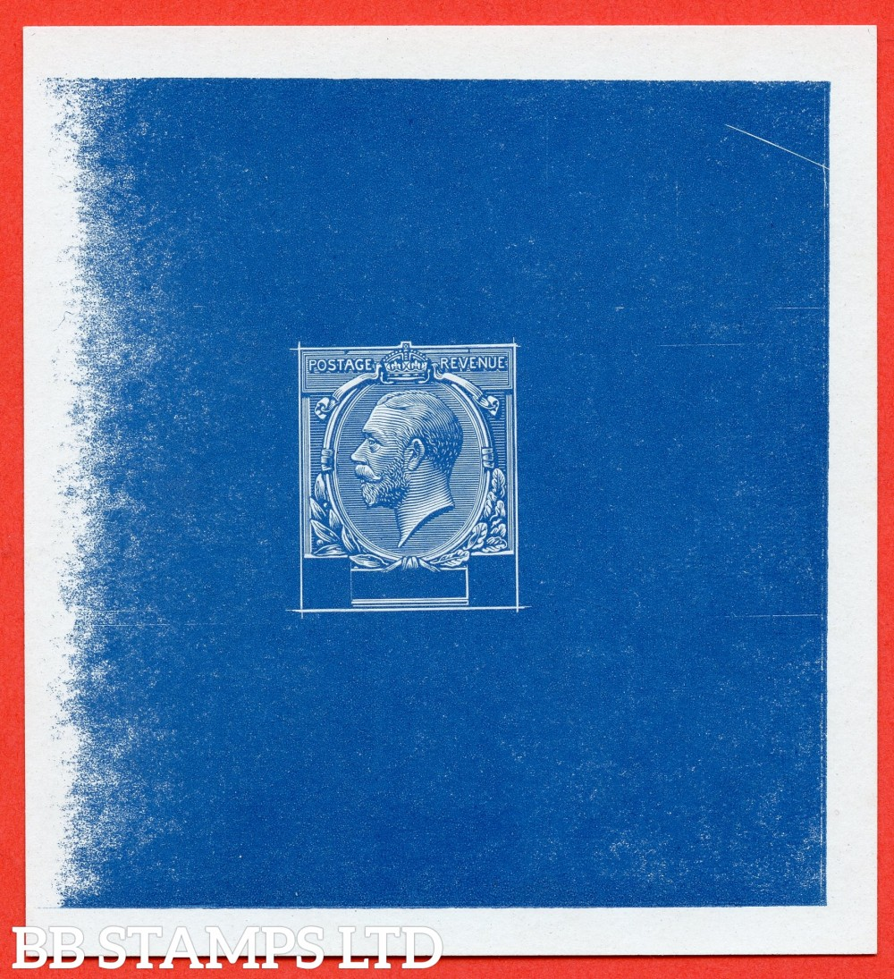 SG. 372. MASTER DIE FOR THE 2½d value. A very fine example of this RARE die proof in Stage 4b on proof paper in Dull Royal Blue.