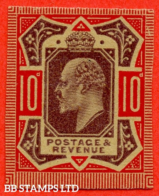 SG. 254 M42 (1). 10d Dull Purple & Carmine. PLATE PROOF. A fine example on poor quality buff paper.