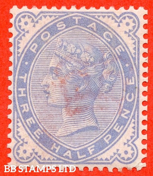 SG. 167 variety K4. 1½d blue COLOUR TRIAL in white paper. Perf 14 and watermark crown. A very lightly mounted mint example of this scarce variety.