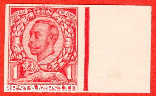 "1912 1d Carmine ( Die II ). A very fine right hand marginal example of the "" John Dickinson Extra Superfine Very White Paper Trial "".  Variety "" A ""."