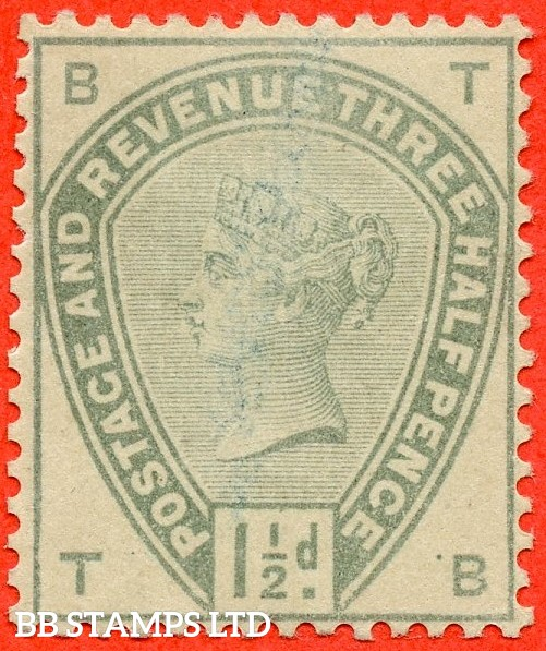 "SG. 188. "" TB "". Variety 1½d green on white paper without watermark. COLOUR TRIAL. A very fine mounted mint example."