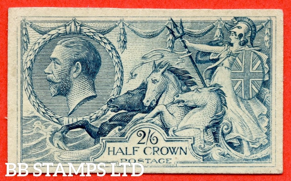 SG. 399. N63 variety. 2/6 cut down DIE PROOF. State (b). Dull grey - blue. A fine example of this very rare proof on glazed white card complete with RPS certificate.
