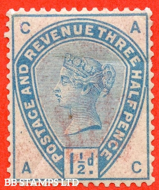 "SG. 188. "" AC "". Variety 1½d blue on white paper with watermark. COLOUR TRIAL. A mounted mint example."