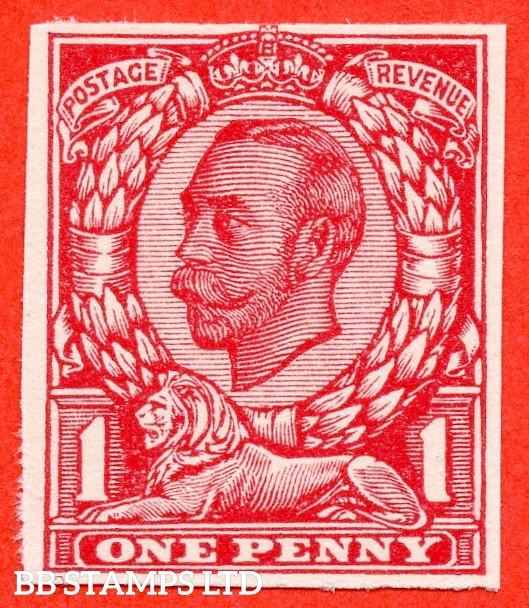 "1912 1d Carmine ( Die II ). A very fine example of the "" John Dickinson Extra Superfine Very White Paper Trial "".  Variety "" A ""."