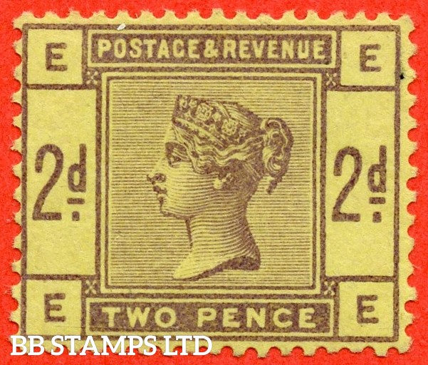"SG. 189. "" EE "". Variety 2d purple on yellow paper without watermark. COLOUR TRIAL. A very fine lightly mounted mint example."
