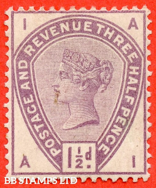 "SG. 188. K18. "" AI "". 1½d Lilac. A fine mounted mint example."