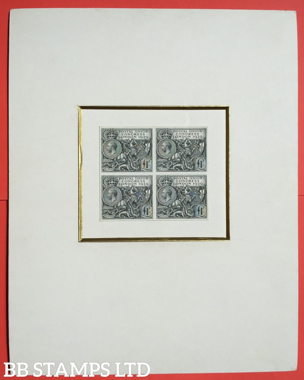 SG. 434 - 438. NCom5 - Ncom 9. ½d - £1.00. 1929 Postal union Congress. PLATE PROOFS. A superb complete set of specially prepared Imperf Miniature sheets on thin white glazed paper. One of only 3 sets in private hands.
