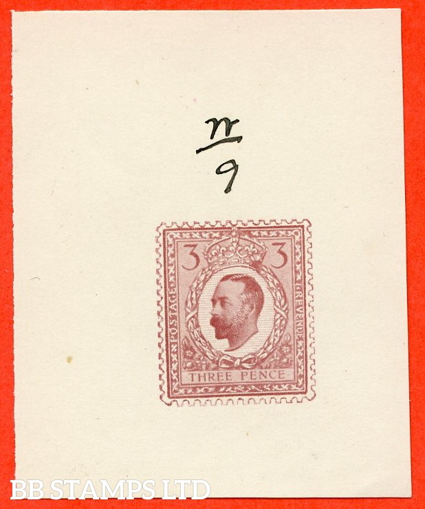 "George V. 3d. "" Half Tone Hentschel Essay "". A very fine example with manuscript n/9 above."