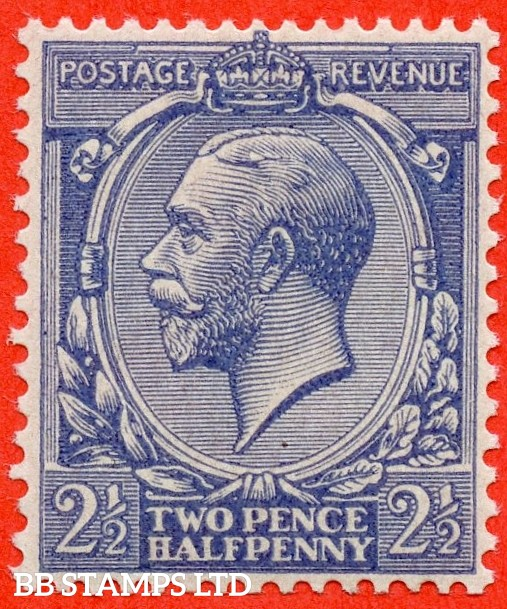 SG. 422a variety N37 (2) a. 2½d pale blue NO WATERMARK. A superb UNMOUNTED MINT example of this RARE George V variety complete with BPA certificate.