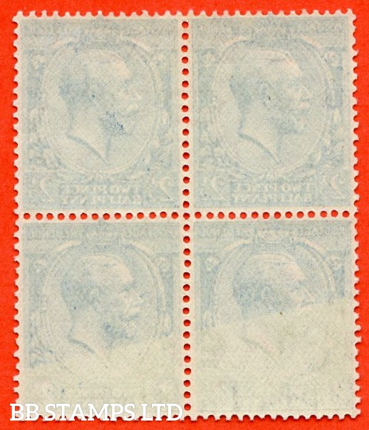 SG. N37 (3). 2½d bright blue. A very fine UNMOUNTED MINT block of 4 with a SUPERB OFFSET ERROR. Very rare on this issue with this being the 1st example we have seen in 26 years.