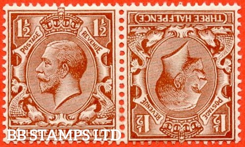 SG. 420 a. N35 (1) a. 1½d red - brown. Tete - beche pair. A superb UNMOUNTED MINT example.