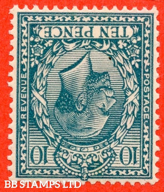 SG. 428wi. N44 (1) a. 10d Turquoise - Blue. A superb well centred UNMOUNTED MINT example with the RARE INVERTED WATERMARK variety.